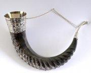 Серебряный элитный подарочный рог кавказского тура большой