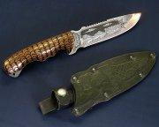 """Кизлярский нож туристический """"Викинг"""" (сталь - 65Х13, рукоять - дерево) арт.2340"""