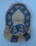 """Сувенирная глиняная тарелочка ручной работы """"Большой кувшин"""" в ассортименте синяя"""