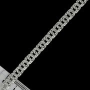 """Кубачинский серебряный браслет ручной работы """"Бисмарк"""" 24 см (ширина 0,7 см) арт.5303"""