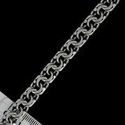 """Кубачинский серебряный браслет ручной работы """"Бисмарк"""" оксидированный 24 см (ширина 1 см) арт.4970"""