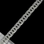 """Кубачинский серебряный браслет ручной работы """"Бисмарк"""" 23 см (ширина 1 см) арт.4979"""
