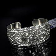 Серебряный кубачинский браслет с алмазной гранью №2