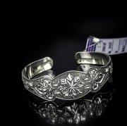 Серебряный кубачинский браслет с алмазной гранью №4
