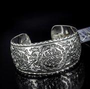 Серебряный кубачинский браслет с алмазной гранью №5