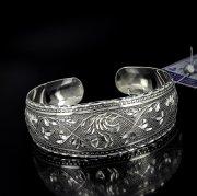 Серебряный кубачинский браслет с алмазной гранью №10