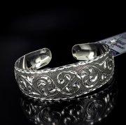 Серебряный кубачинский браслет с алмазной гранью №12