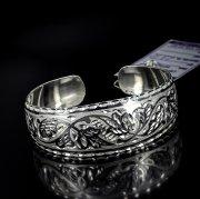 Серебряный кубачинский браслет с алмазной гранью №13