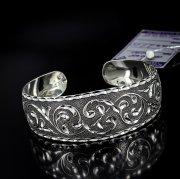 Серебряный кубачинский браслет с алмазной гранью №14