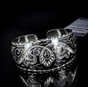 Серебряный кубачинский браслет с алмазной гранью №17