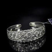 Серебряный кубачинский браслет с алмазной гранью №18