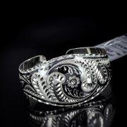 Серебряный кубачинский браслет с алмазной гранью №19