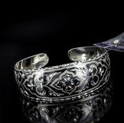 Серебряный кубачинский браслет с алмазной гранью №21