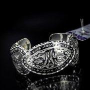 Серебряный кубачинский браслет с алмазной гранью №23