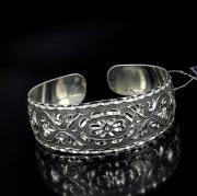 Серебряный кубачинский браслет с алмазной гранью №25