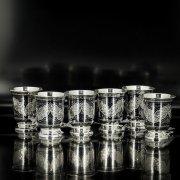 Серебряные стопки Кубачи ручной работы (6 персон) арт.5560