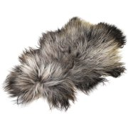Натуральная козья шкура (цвет - серый, длинный ворс, ручная выделка) арт.6153