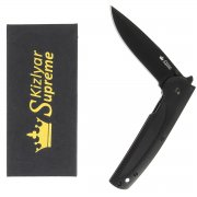 "Складной нож ""Biker X"" (сталь - AUS-8 Black Titanium, рукоять - G10) арт.4258"