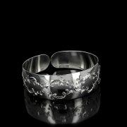 Серебряный кубачинский браслет белый №78