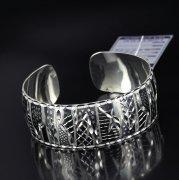 Серебряный кубачинский браслет с алмазной гранью №8