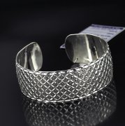 Серебряный кубачинский браслет с алмазной гранью №20