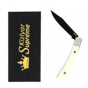 """Складной нож """"Gent"""" (сталь - 440C Bone Black Titanium, рукоять - кость) арт.4303"""