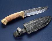 "Кизлярский нож туристический ""Зодиак"" (сталь - 65Х13, рукоять - дерево) арт.2329)"