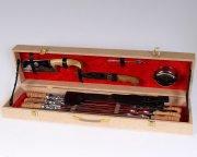 Кизлярский шашлычный набор в подарочном кейсе средний (бежевый)