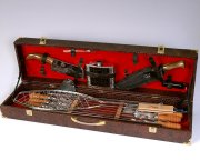 Кизлярский шашлычный набор в подарочном кейсе большой (каштановый)