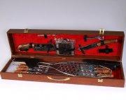 Кизлярский шашлычный набор в подарочном кейсе большой (коричневый)