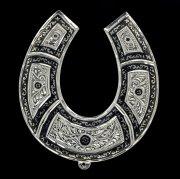 Кубачинская серебряная подкова ручной работы большая арт.4510