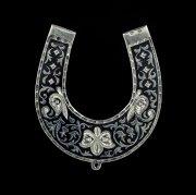Кубачинская серебряная подкова ручной работы малая арт.4516