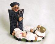 """Подарочная статуэтка-пепельница ручной работы """"Веселый генерал на пастбище"""" (обожженная глина) арт.1858"""
