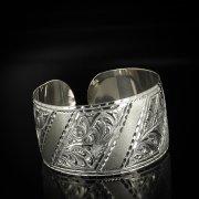 Серебряный кубачинский браслет с гравировкой арт.5798