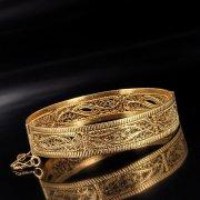 Серебряный кубачинский браслет с эмалью №12