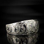 Серебряный кубачинский браслет с чернением арт.564