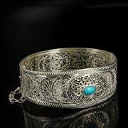 Кубачинский серебряный браслет с филигранью арт.6330