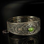 Кубачинский серебряный браслет с филигранью арт.6351