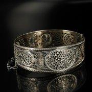 Кубачинский серебряный браслет с филигранью арт.6354