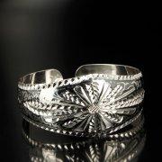 Серебряный кубачинский браслет с чернением арт.6357