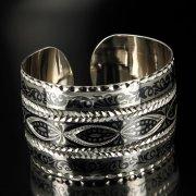 Серебряный кубачинский браслет широкий арт.6362
