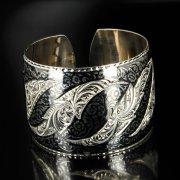 Серебряный кубачинский браслет широкий арт.6364