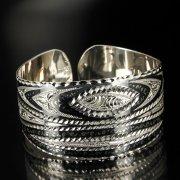 Серебряный кубачинский браслет с чернением арт.6368