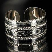 Серебряный кубачинский браслет широкий арт.6369