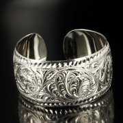 Серебряный кубачинский браслет белый арт.6374