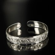 Серебряный кубачинский браслет белый арт.6378
