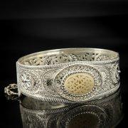 Кубачинский серебряный браслет с филигранью арт.6879