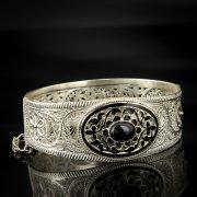 Кубачинский серебряный браслет с филигранью арт.6882