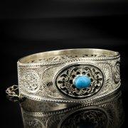 Кубачинский серебряный браслет с филигранью арт.6884