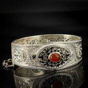 Кубачинский серебряный браслет с филигранью арт.6890